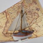 Schwedische Jacht, Kartonmodell 1:96
