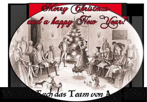 Age of Sail wünscht frohe Weihnachten und ein gutes Neues Jahr!